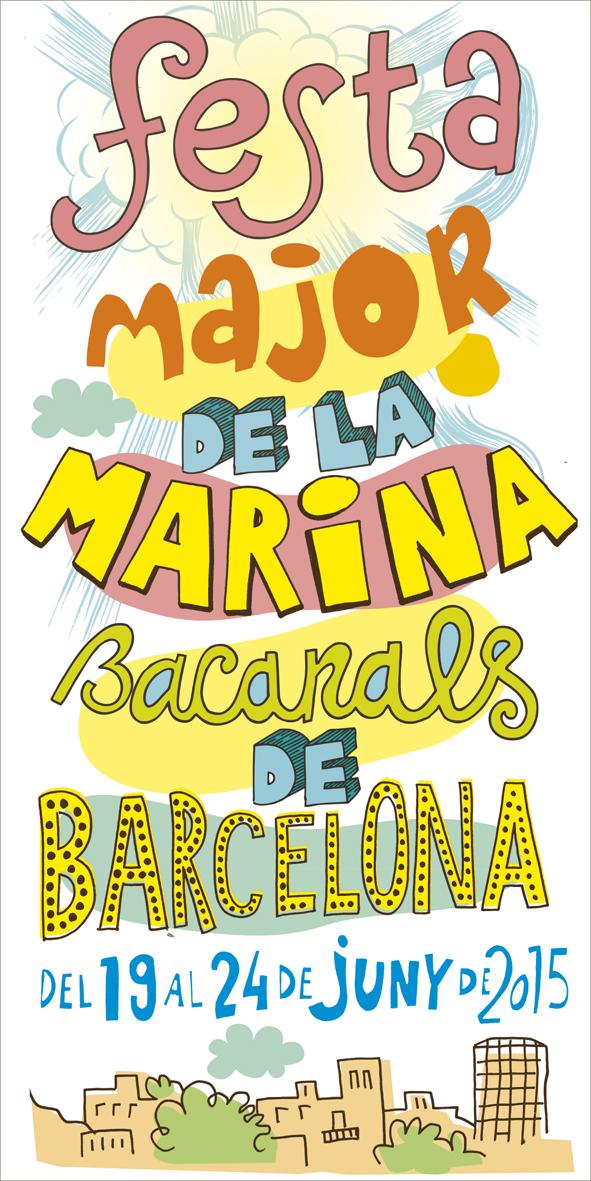 Cartell Festa Major de La Marina, Barcelona, 2015.